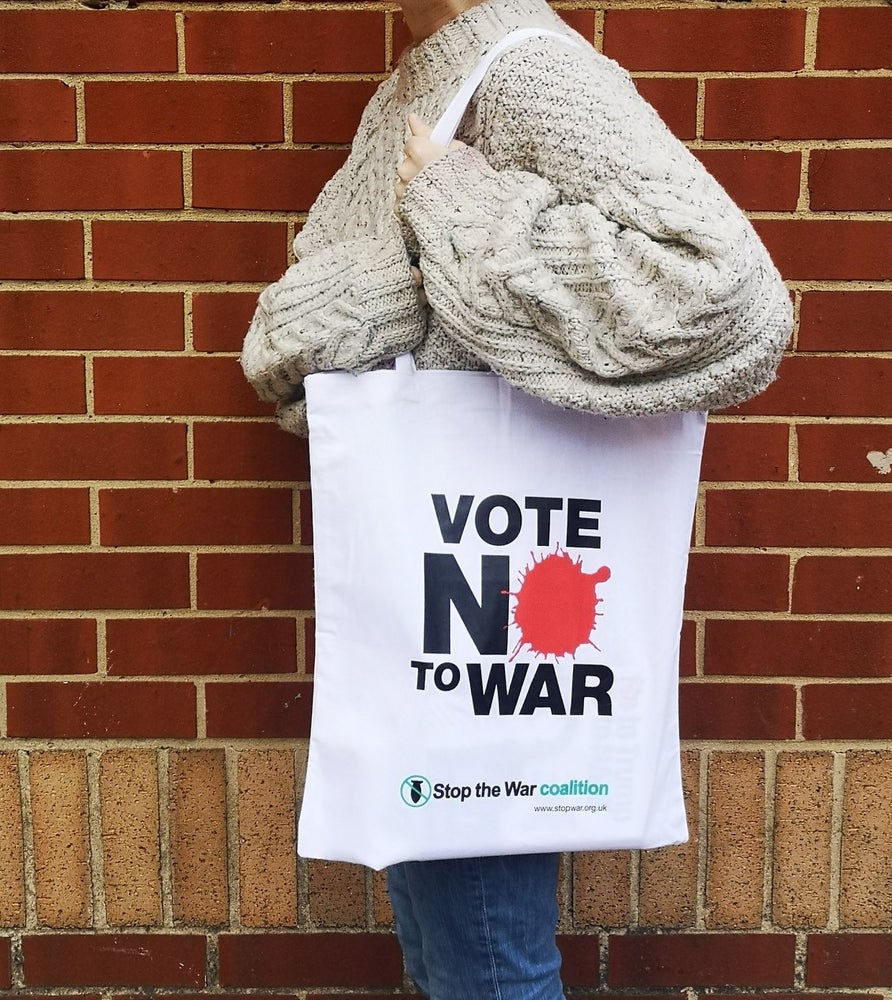 Image of Vote No to War Tote Bag