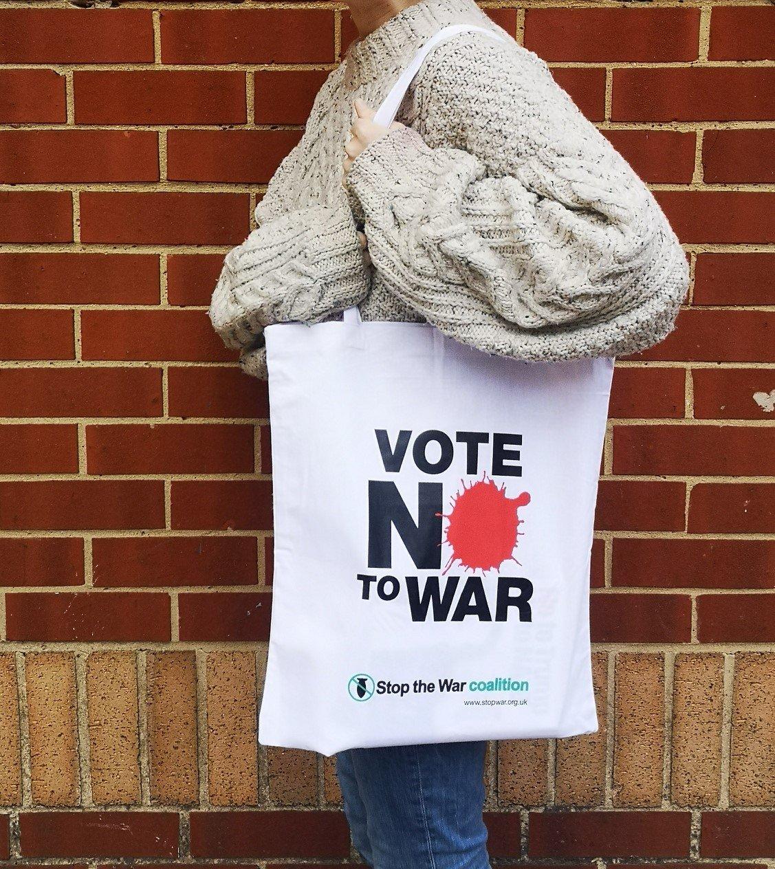 Image of Vote No to War Tote Bag