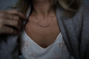 Image of Blush Freshwater pearl necklace with chain