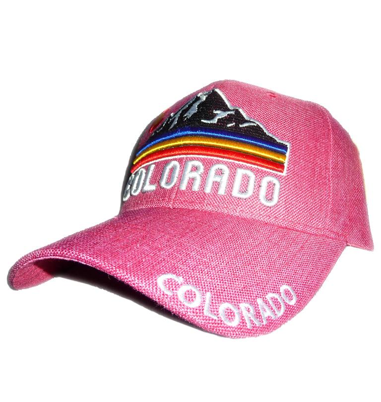 Image of POWDER PINK COLORADO MOUNTAIN STRABACK HAT