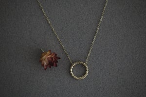 Image of laurel leaf carved wreath necklace (in silver or 9ct gold)