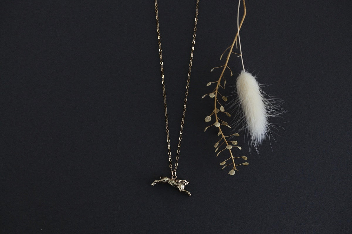 Image of hare necklace (in silver or 9ct gold)