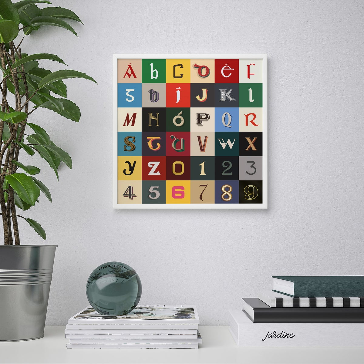Image of Irish Type Alphabet Print