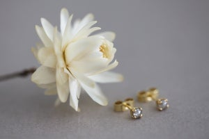 Image of Grey Rose-cut diamond stud earrings