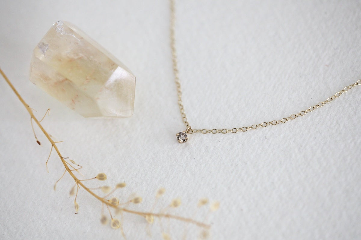 Image of 'little champagne diamond' necklace