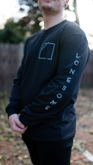 Image of Lonesome Longsleeve T-shirt (Black/Blue)