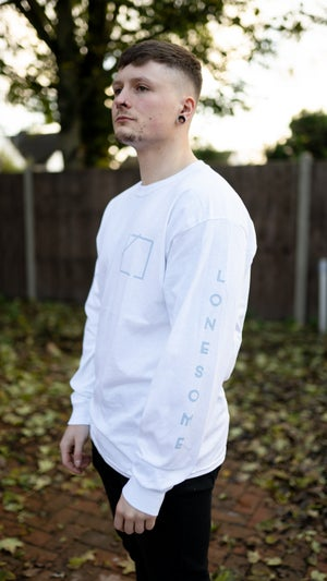 Image of Lonesome Longsleeve T-Shirt (White/Blue)