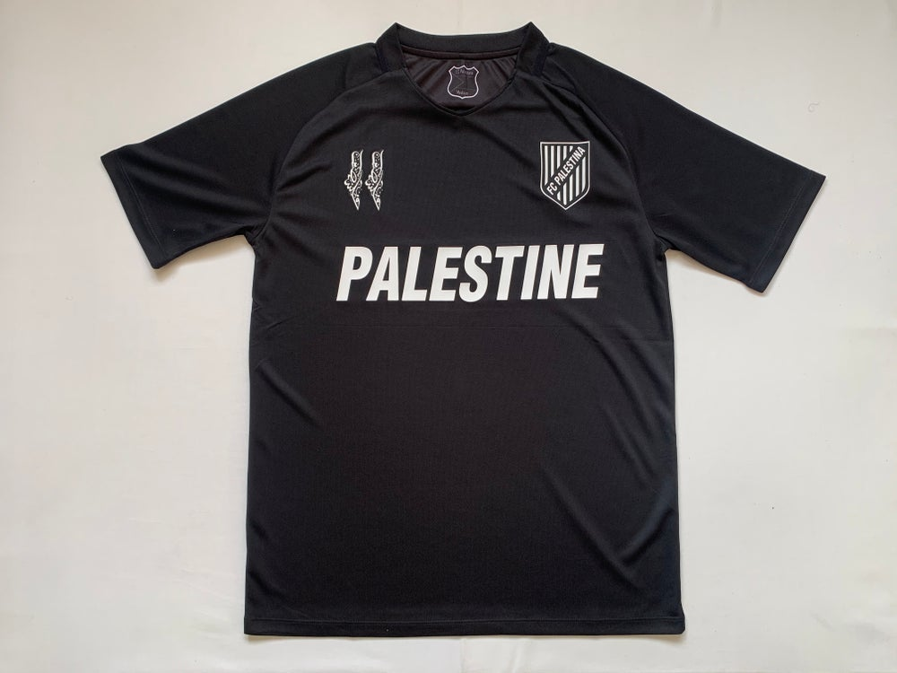 Image of PALESTINE BLACK EDITION (ENGLISH) FOOTBALL SHIRT