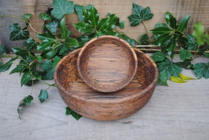Image of Mini nest of spalted beech bowls