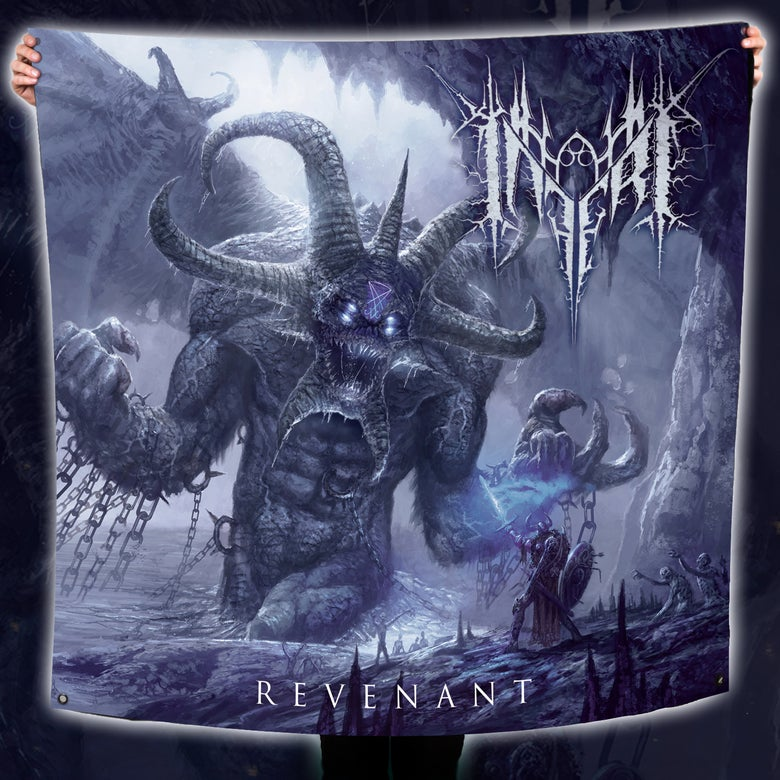 Image of INFERI - Revenant | 4' x 4' Wall Flag