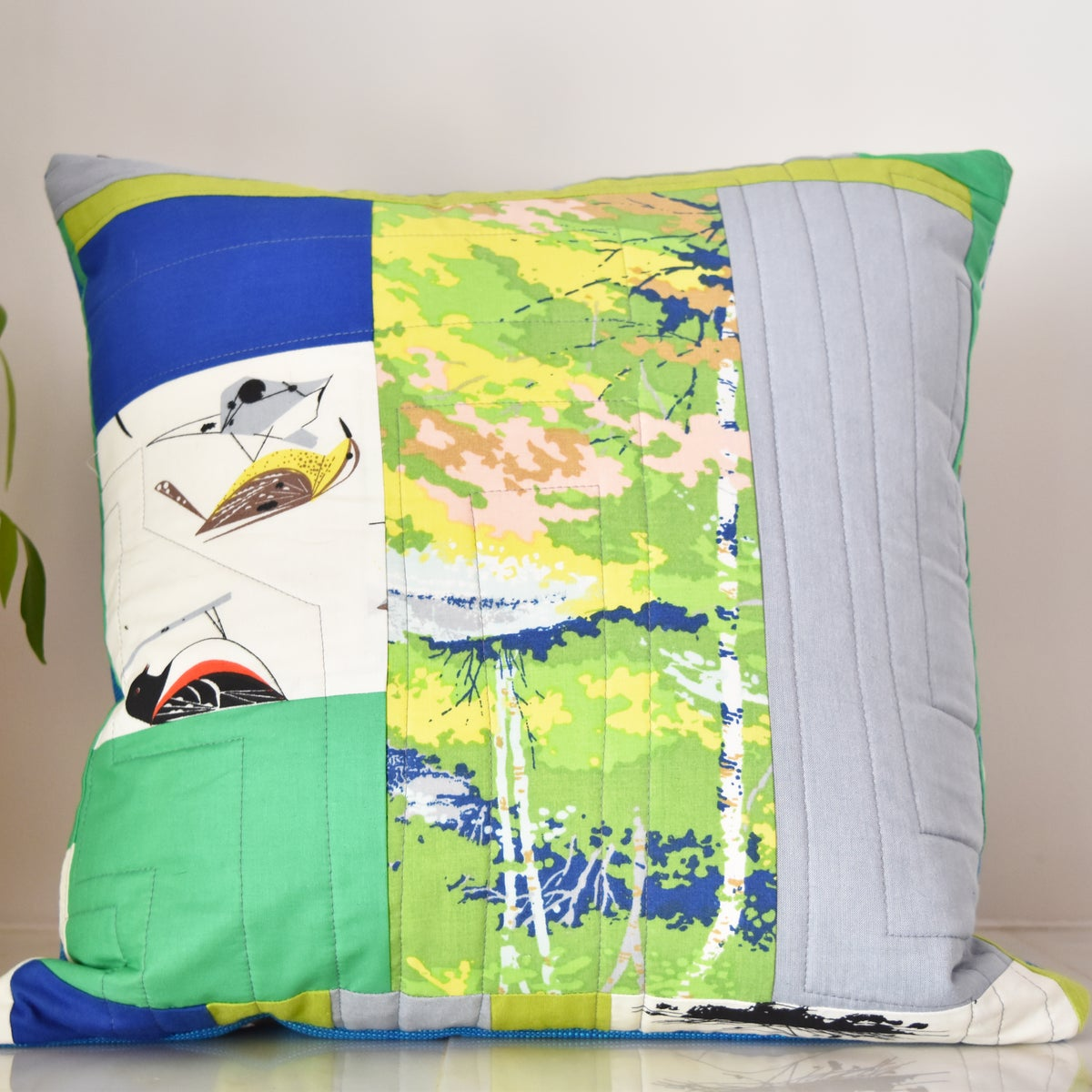 Image of Blue and Green One of a Kind Pillows