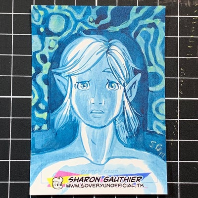 Image of Breath of the Wild Link Sketch card