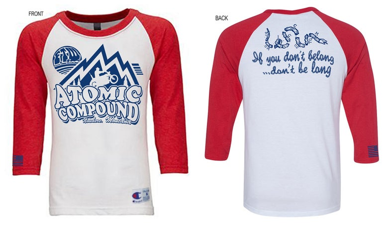 Image of Atomic Compound Raglan Red/White