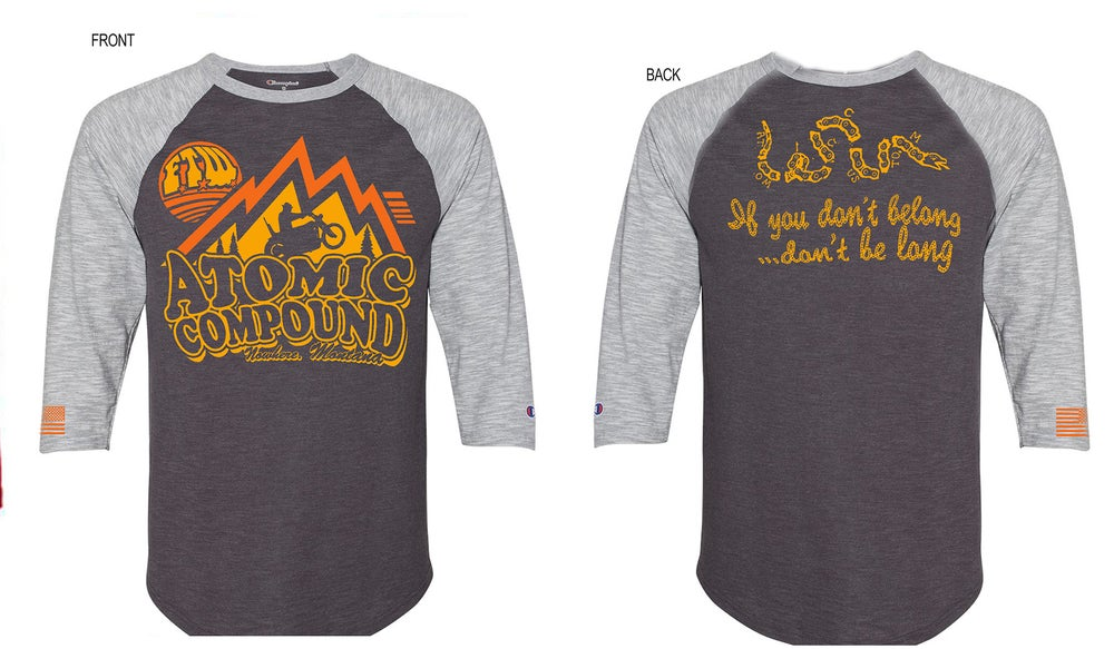 Image of Atomic Compound raglan-charcoal/heather