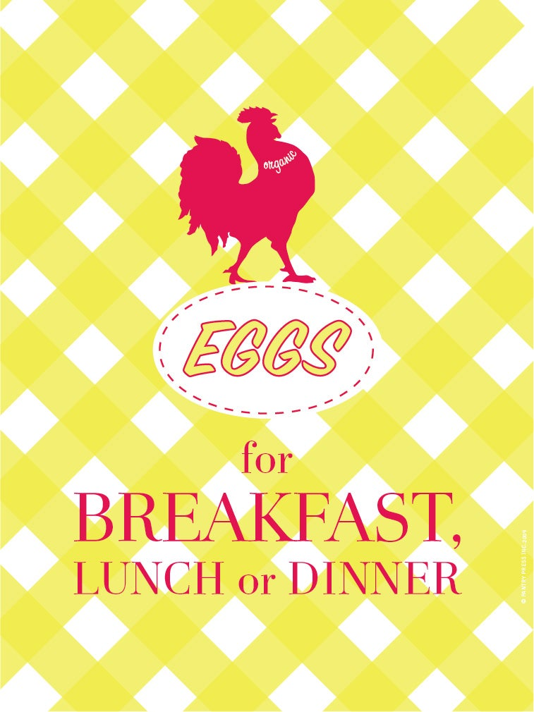 Image of Eggs for Breakfast Poster
