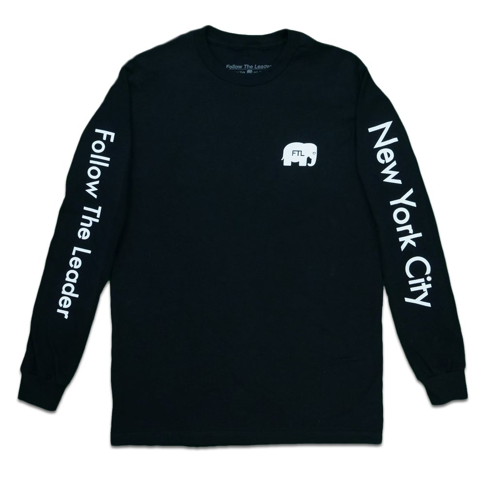 Image of Elephant Long Sleeve (Black)