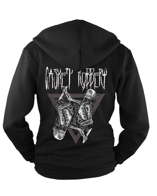 """Image of NEW! """"From The Grave"""" Zip Up Hoodie - PRE-ORDER"""