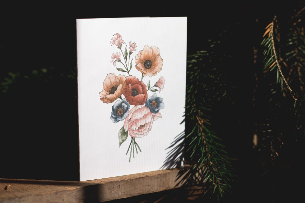 Image of POPPY BOUQUET Cards