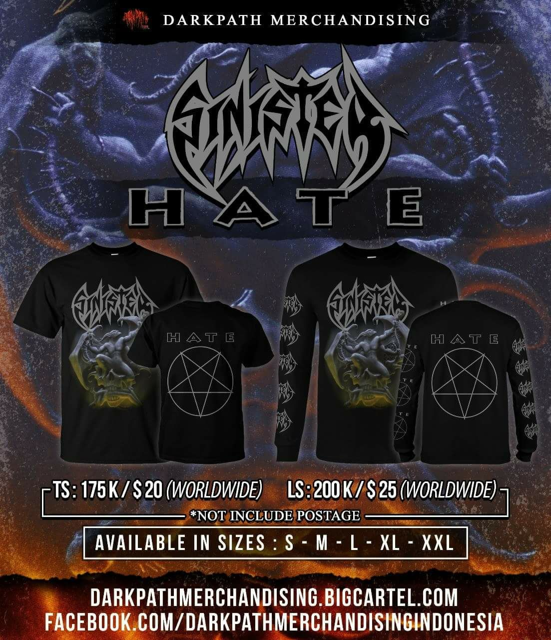 Image of SINISTER - Merch 3 Designs SS & LS