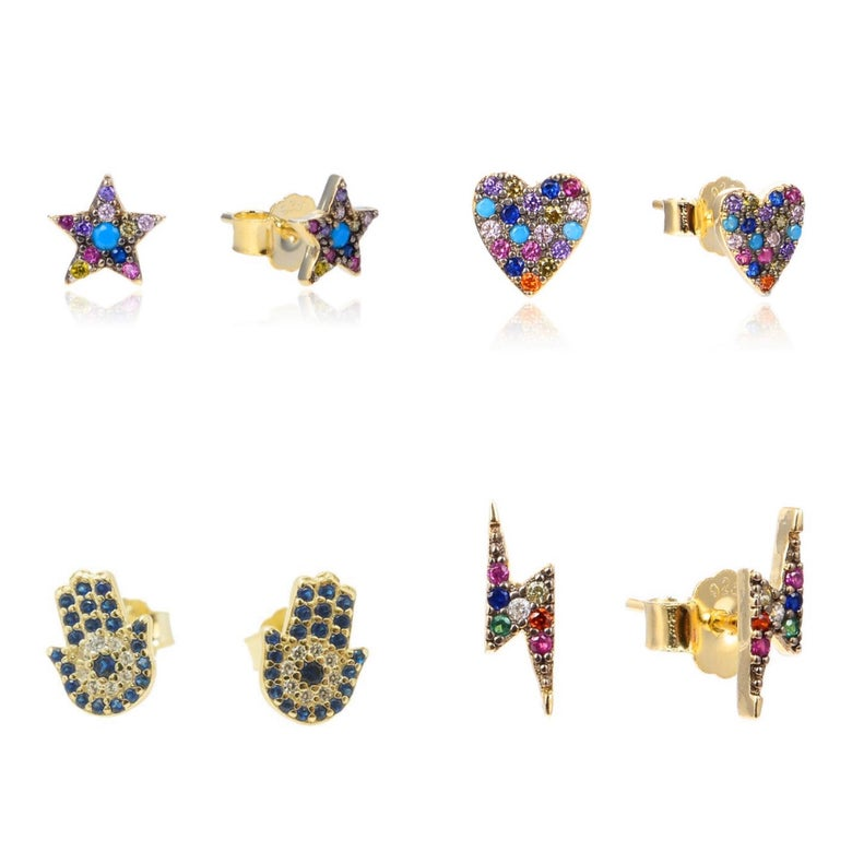 Image of Multicolor Studs (Select style below)