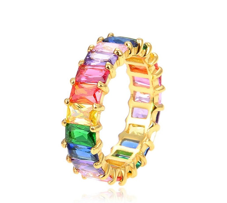 Image of Multicolor Baguette Ring