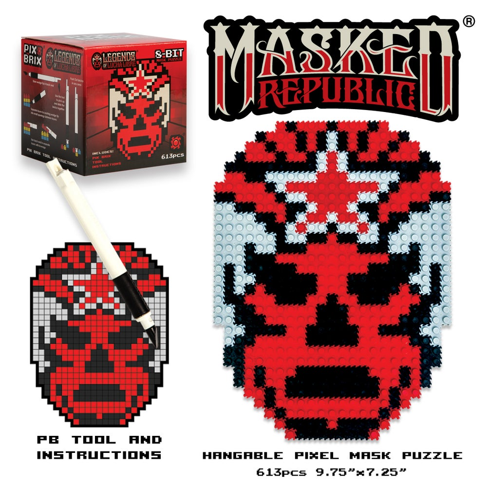 Image of Pix Brix - Masked Republic Logo Mask Puzzle Set (20% OFF BLACK FRIDAY SPECIAL)