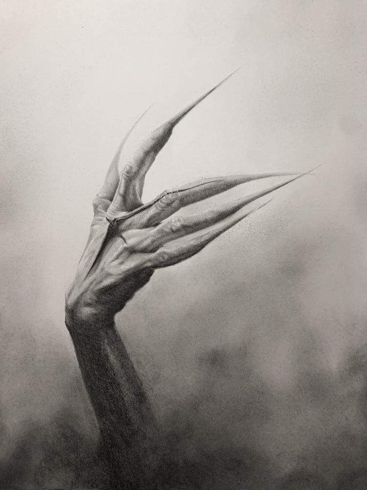 Image of From Ashes original graphite drawing