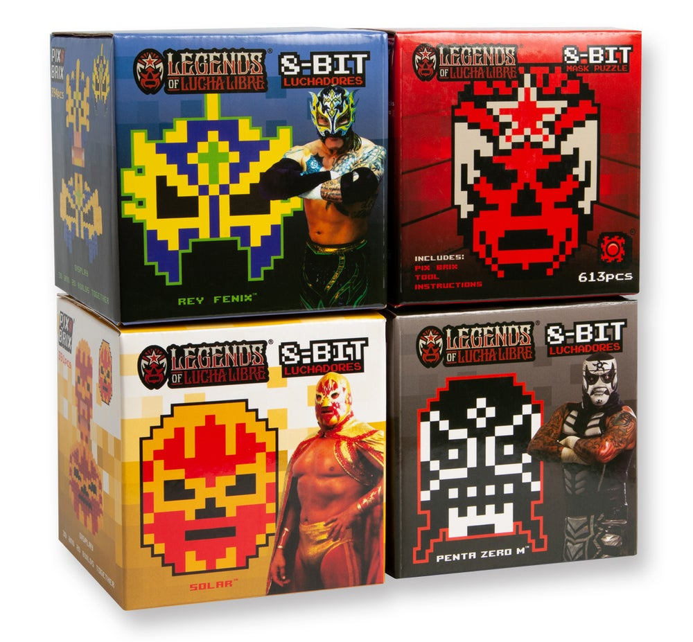 Image of Pix Brix - Legends of Lucha Libre 8bit Puzzle Collection (20% OFF BLACK FRIDAY SPECIAL)