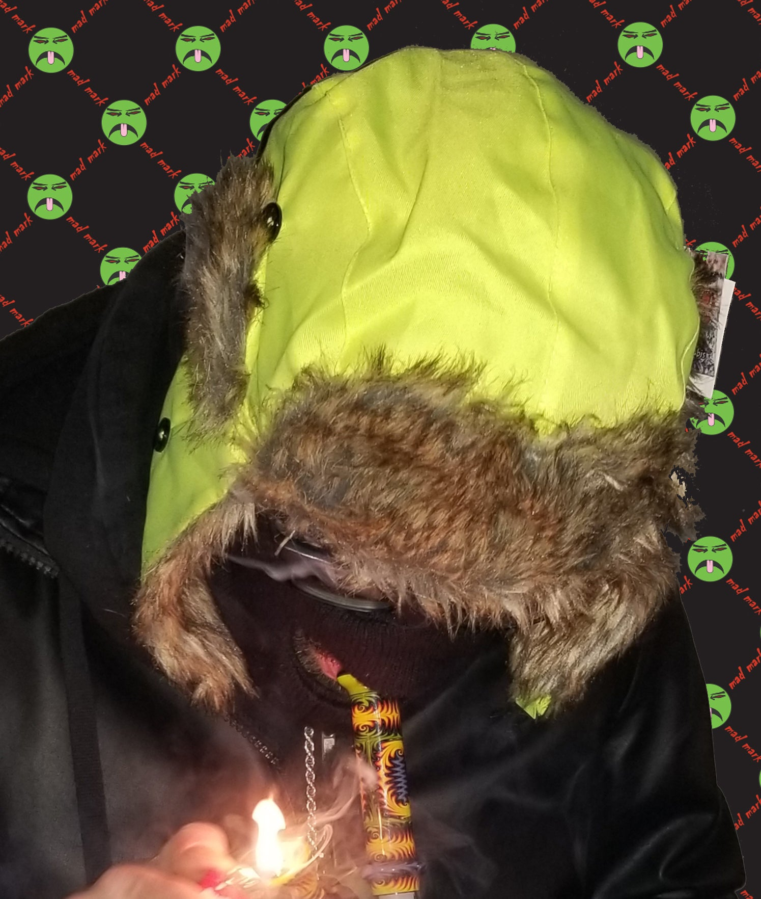 Image of furry winter hat