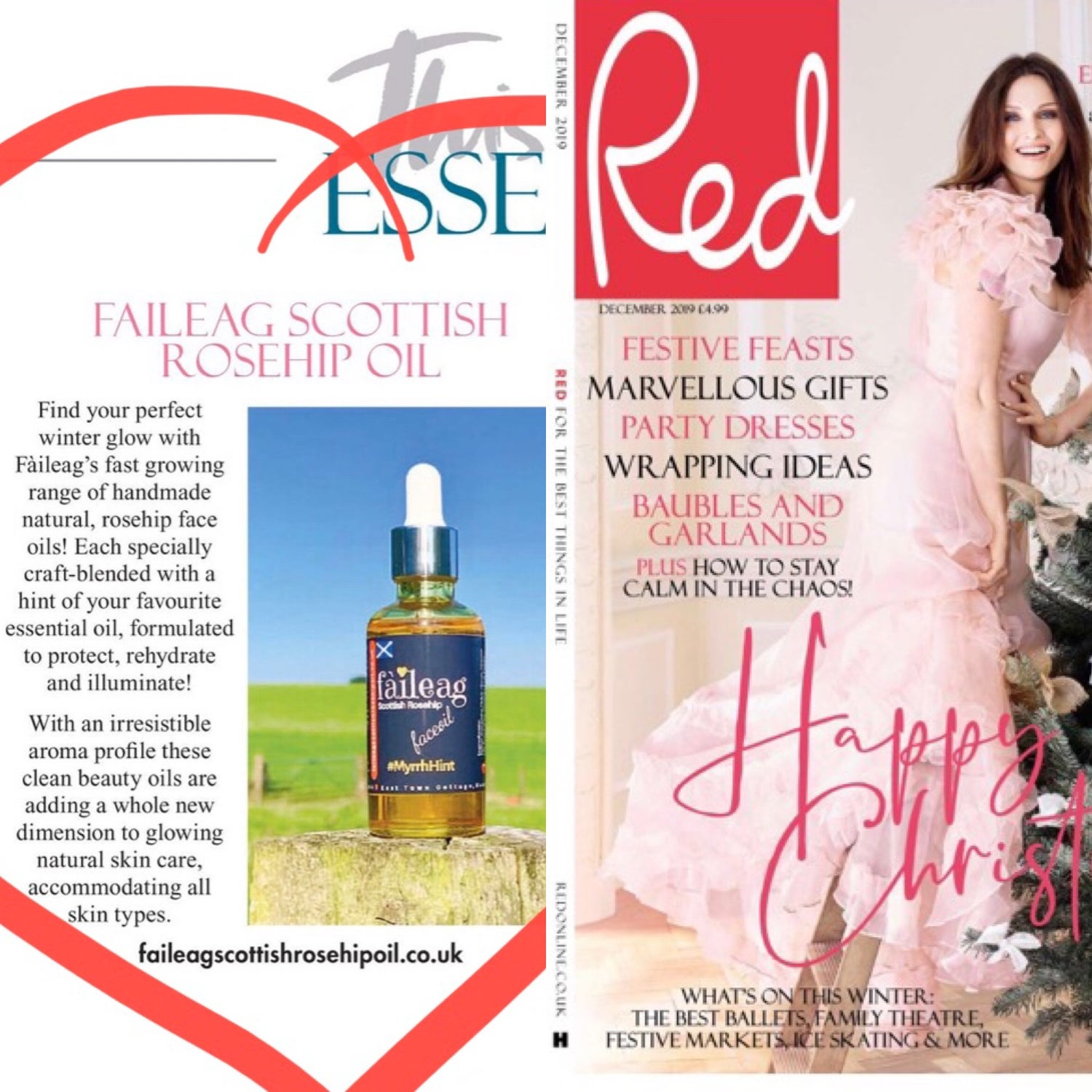 Image of As seen in RED Magazine (Winter Essentials - December 2019) Fàileag RoseHipOil - Myrrh Hint