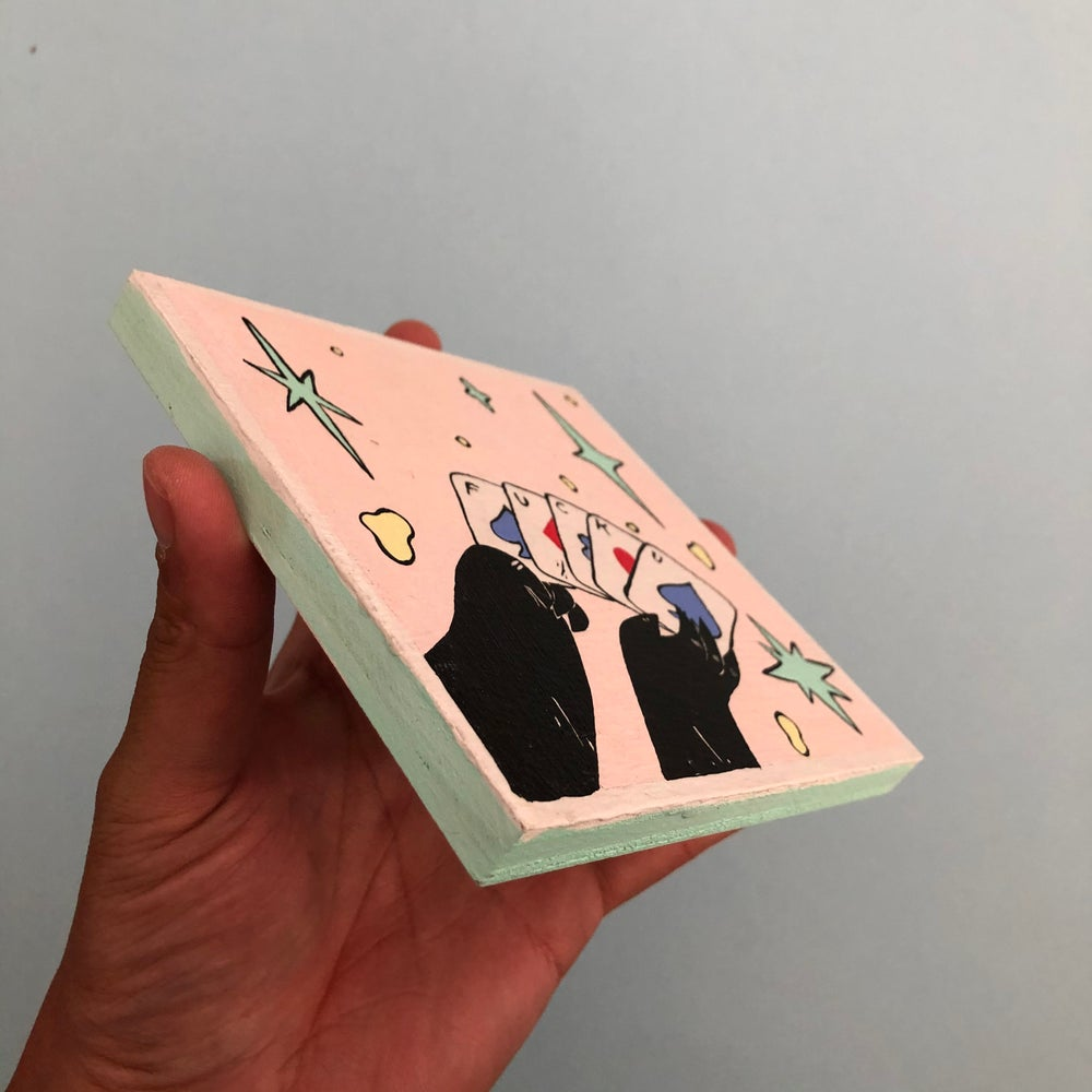 Image of Bad Hand/Playing Cards Painting