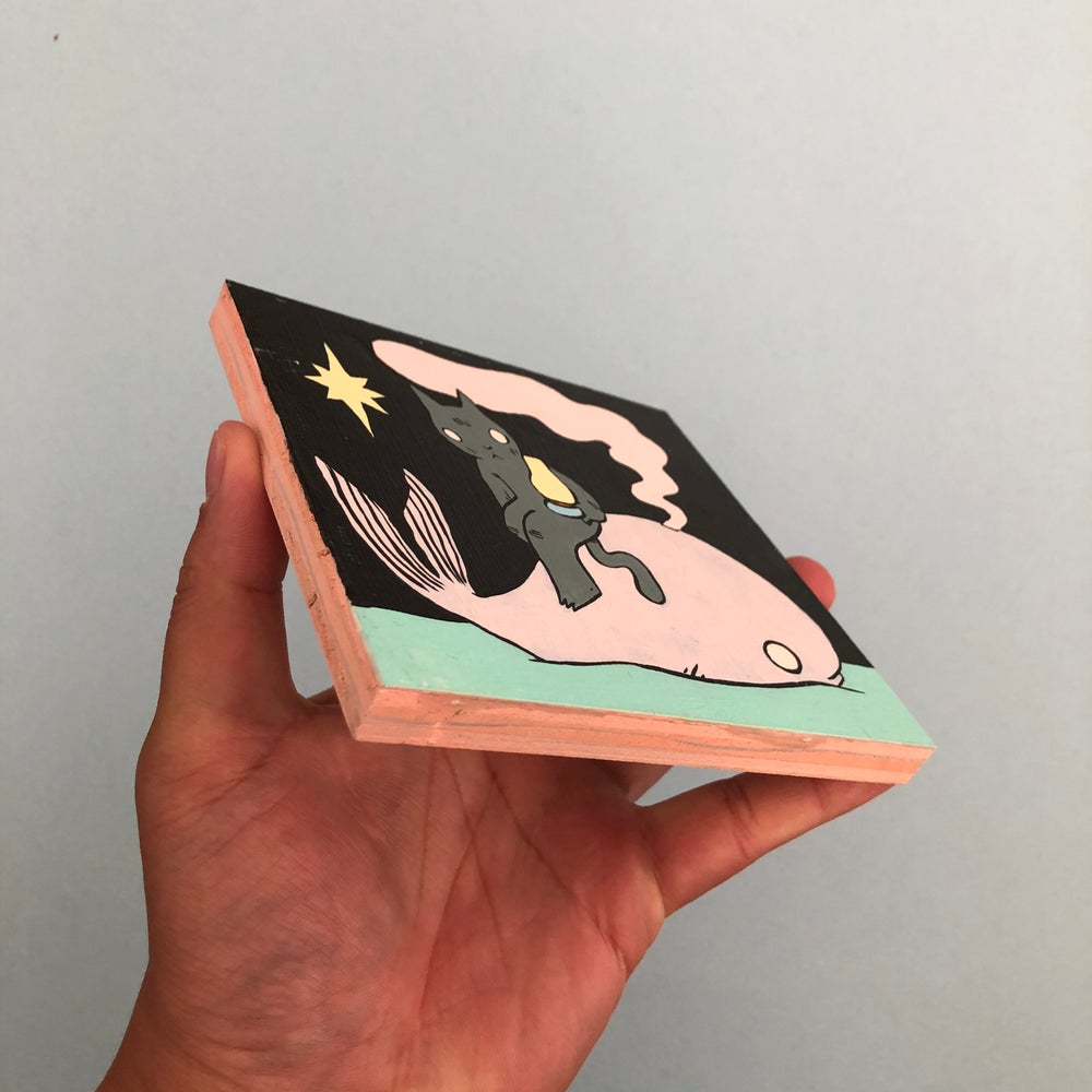Image of Little Whale Painting