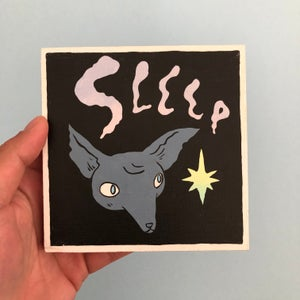 Image of Sleep Fox Painting