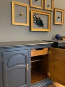 """Image 2 of Farrow & Ball """"Railings""""  wooden cupboards"""