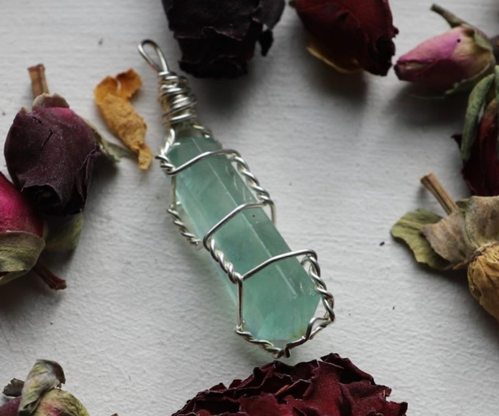 Image of  FIRENZA GREEN FLUORITE NECKLACE