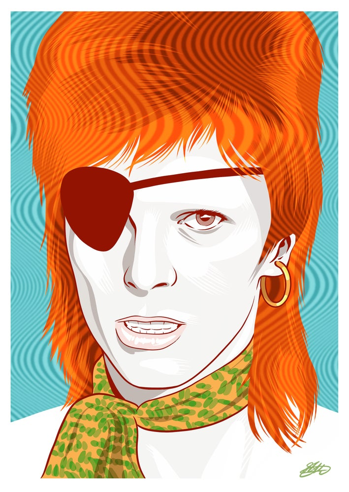 Image of DAVID BOWIE GLOSS PREMIUM GICLEE PRINT (16.5 X 11.7 INCH)  LIMITED TO 20