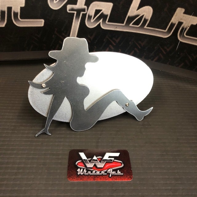 Image of Trucker Girl / Cowgirl - Two Layer Hitch Cover