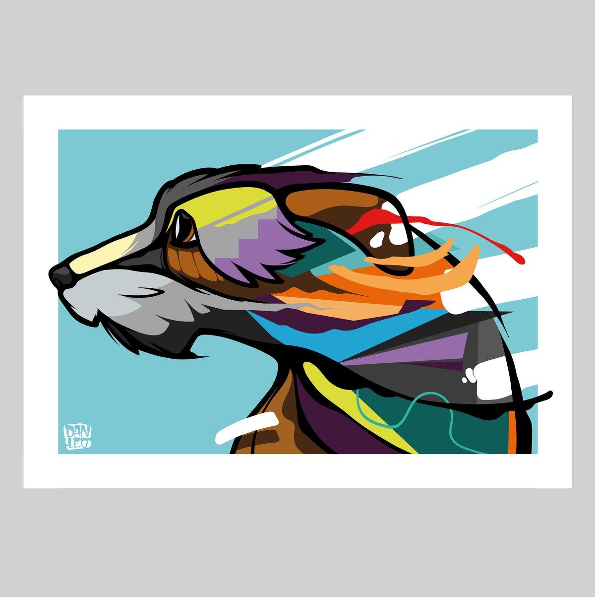 Image of Irish Wolfhound Print