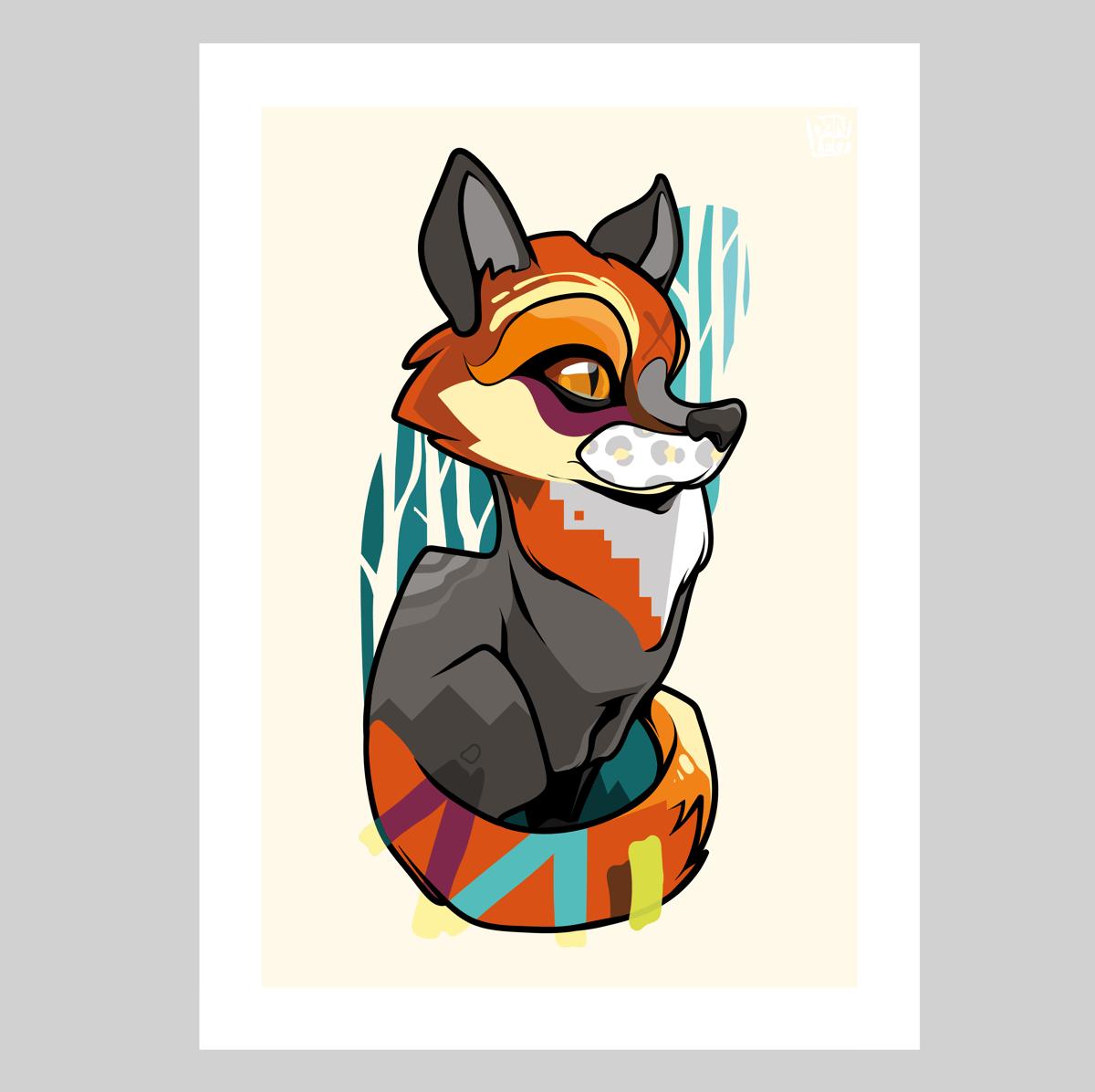 Image of Fox Cub Print