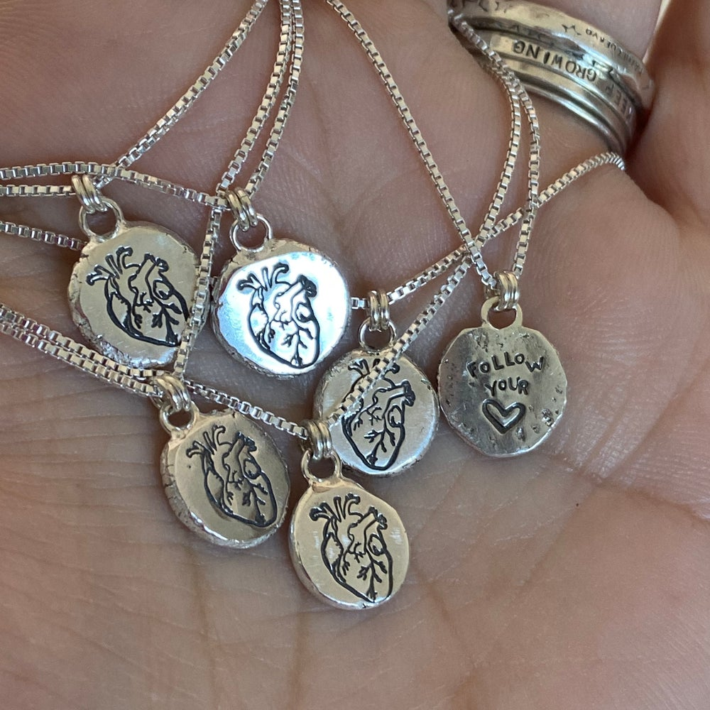 Image of Anatomical heart Coin necklace