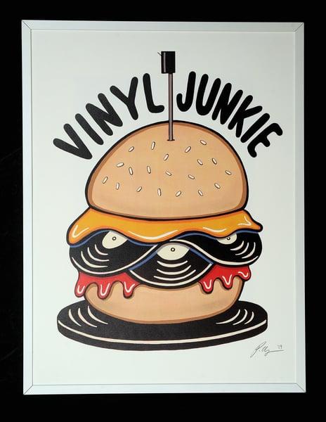 Image of ' Vinyl Junkie ' A3 Print