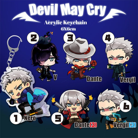 Image of DMC Devil May Cry Acrylic Keychain Charms