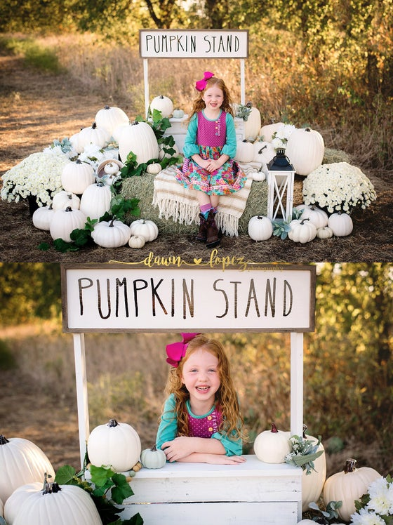 Image of Fall 2019 Farmhouse Pumpkin Stand Outdoor Mini Session