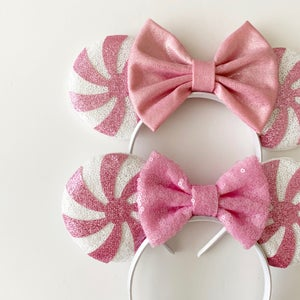 Image of Pink Peppermint Swirl Mouse Ears