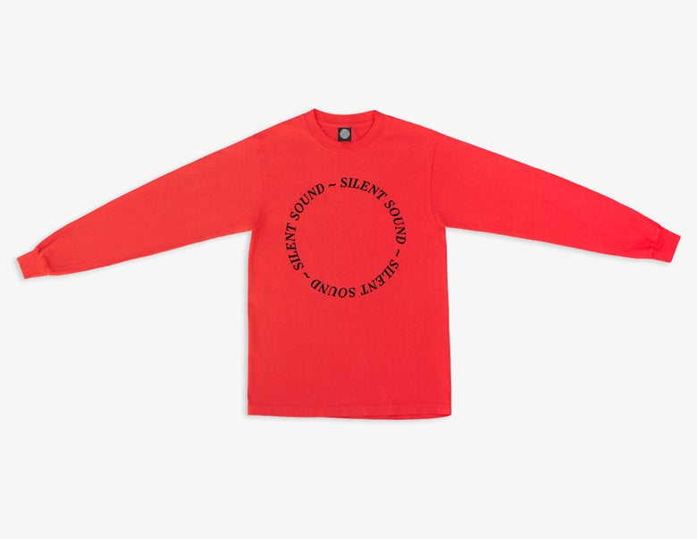 Image of L/S Circle Tee - Tomato Red / Black - WILDFIRE BENEFIT