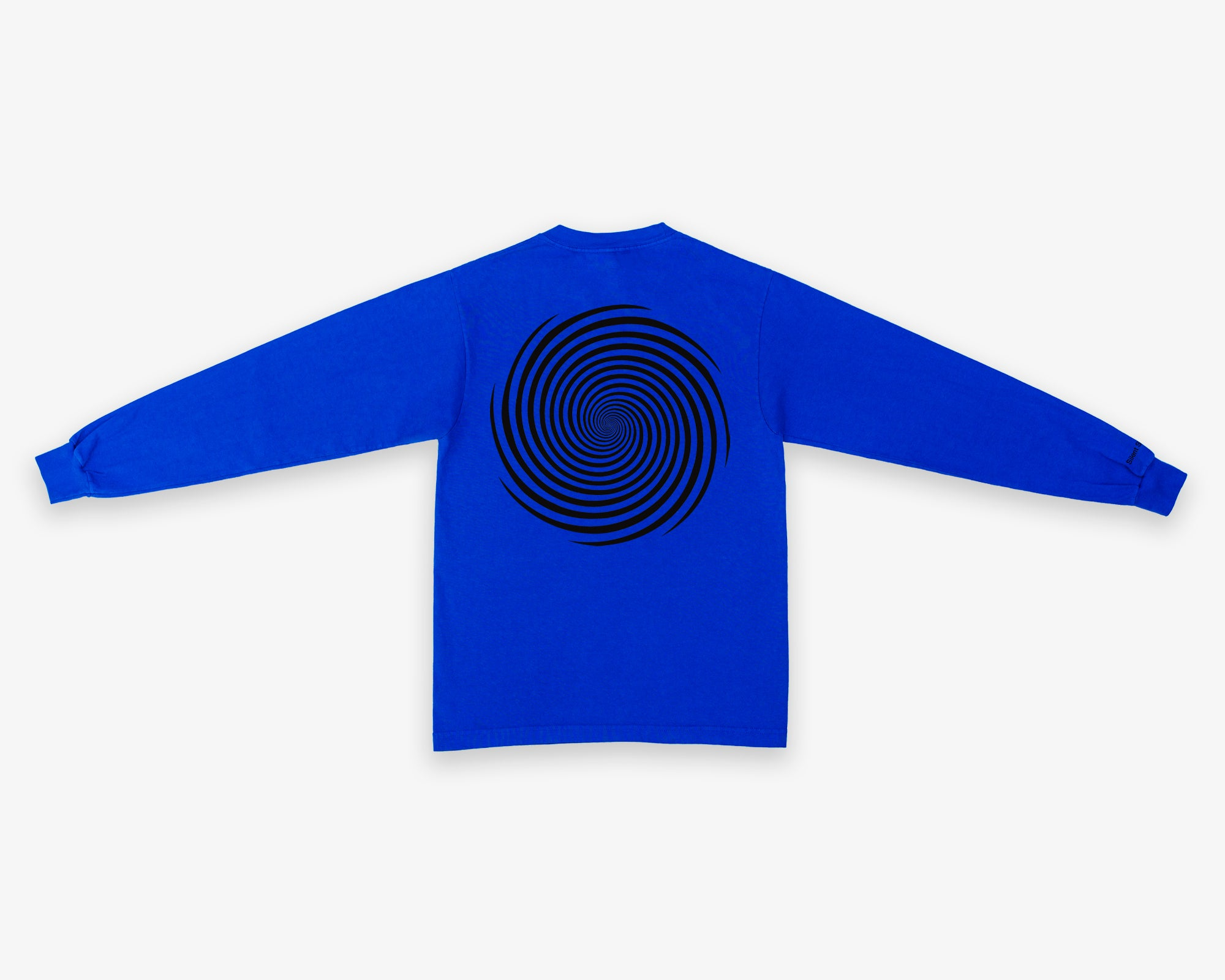 Image of L/S Vortex Tee - Cobalt / Black