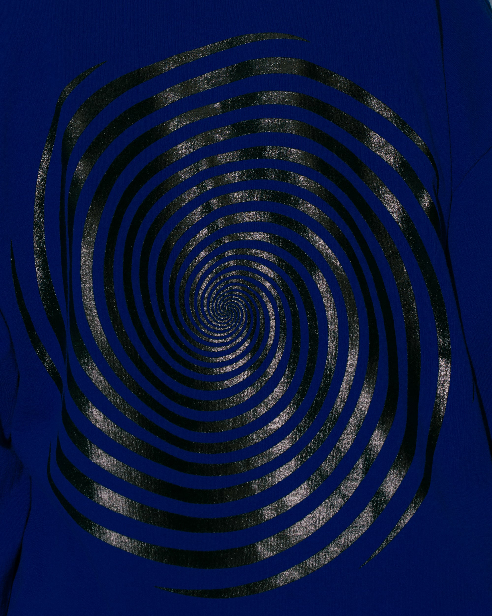 Image of L/S Vortex Tee - Cobalt / Black