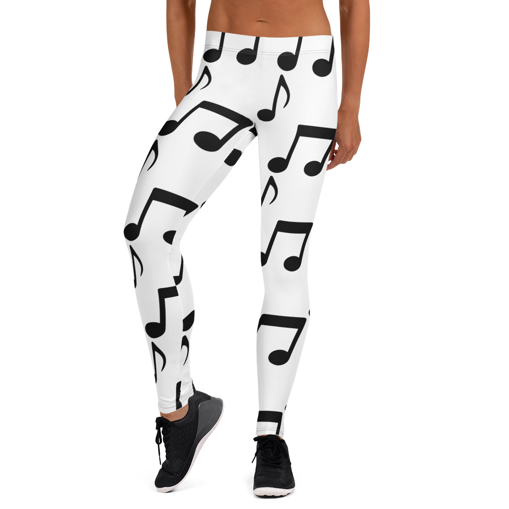 Image of Musical Notes Leggings and Sports Bras