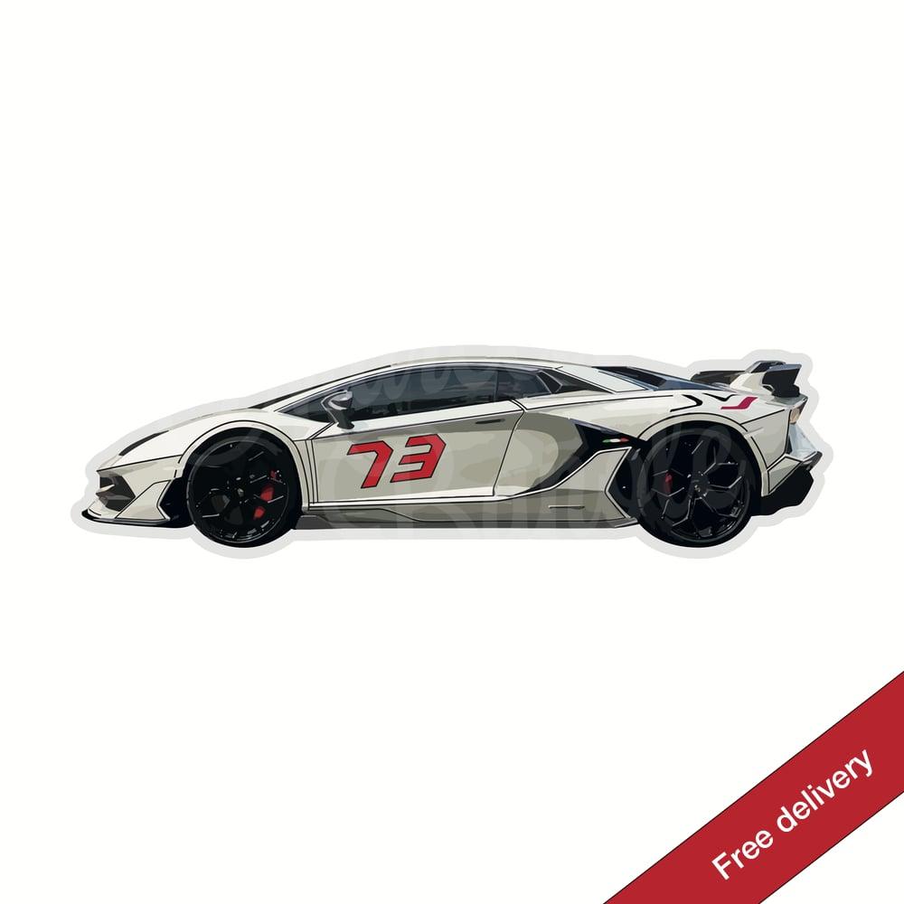 Image of @lambo.tron - Lamborghini Aventador SVJ Sticker