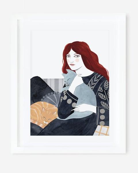 Image of Lámina MADRE DE GATOS  🐈🐯